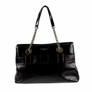 Kate Spade Bow Patent Leather Tote W/ Chain Strap